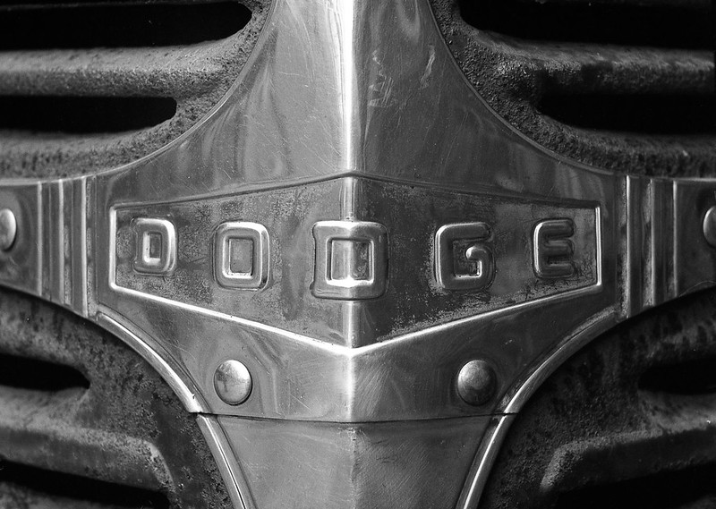 Front of old Dodge Pickup