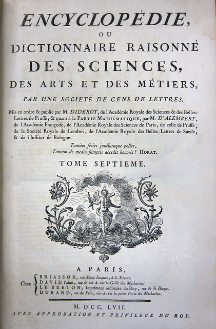 diderot title page vol 7