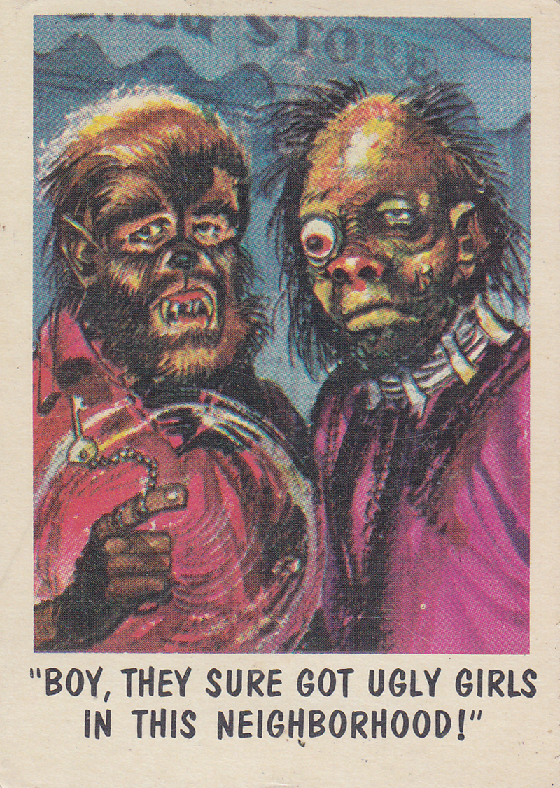 """You'll Die Laughing"" Topps trading cards 1959,  illustrated by Jack Davis (09)"