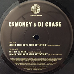 C$MONEY & DJ CHASE:LADIES CAN I HAVE YOUR ATTENTION(LABEL SIDE-A)