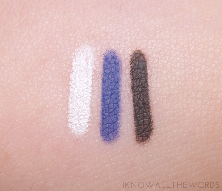 Maybelline Lasting Drama Waterproof Gel Pencil Cashmere White, Lustrus Sapphire, and Smooth Charcoal (6)
