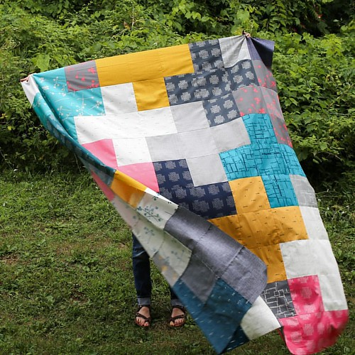 Imprint Arithmetic Quilt Top