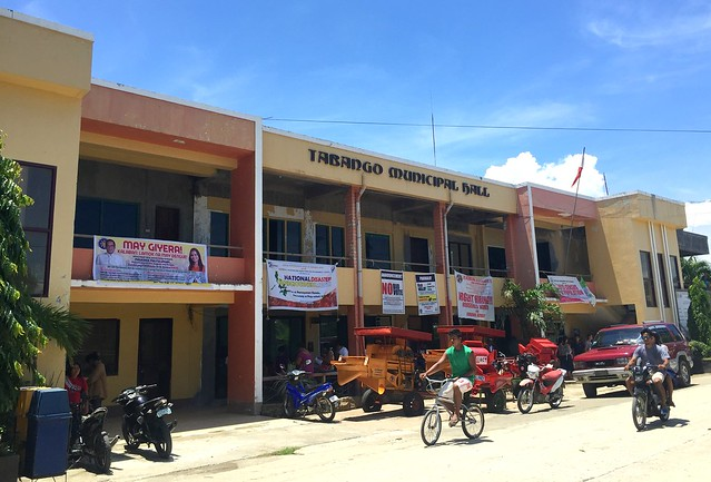The newly-rehabilitated Tabango Municipal Hall - July 2015