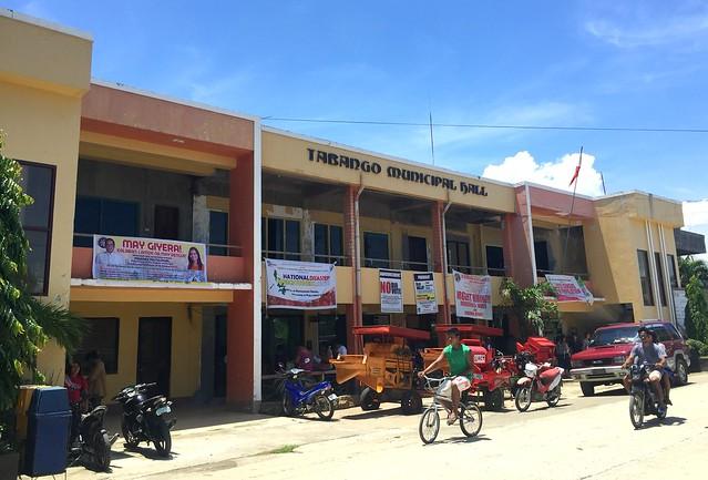 The newly-rehabilitated Tabango Municipal Hall - July 2015