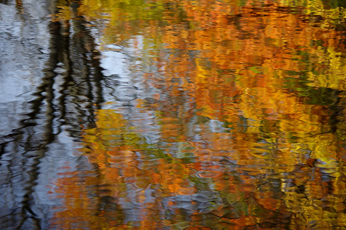 autumn painterly fall water reflections river fallcolor pentax connecticut newengland ct impressionist k3 trumbull 2015 pequonnockriver vbd smcpentaxda55300mmf458ed oldminepark fall2015