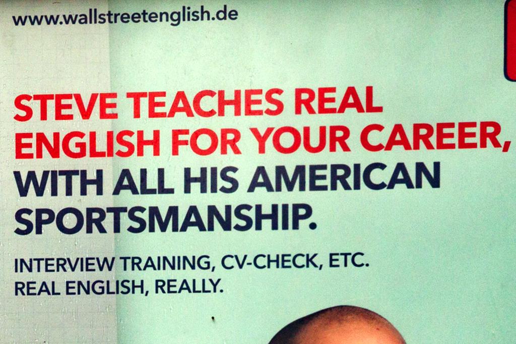 STEVE TEACHES REAL ENGLISH--Leipzig (detail)