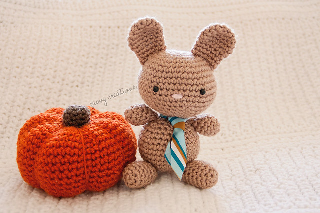 Baby Bunny and Pumpkin