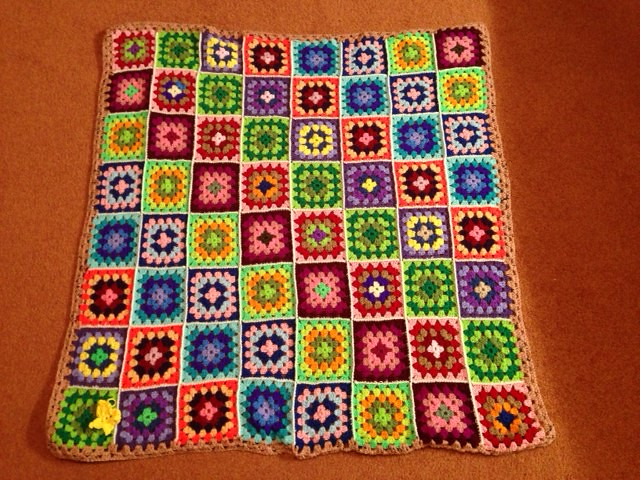 Mixed Granny Square Blanket