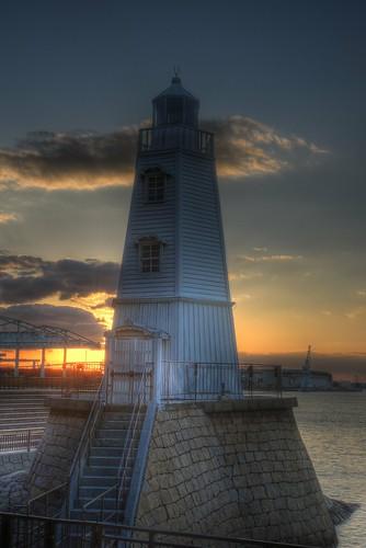 Memorial Former Lighthouse at Sakai on OCT 31, 2015 (2)