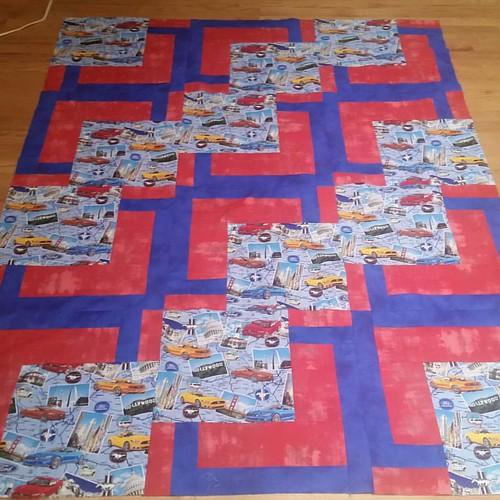 Quilt top #2 BQ quikt for preschool teacher for Christmas
