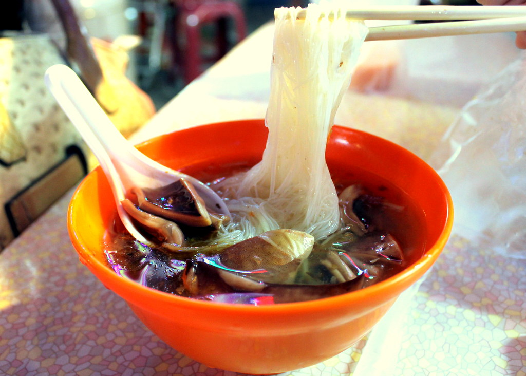 Taipei Night Market Trail: gongguan night market cuttlefish vermicelli with thick soup