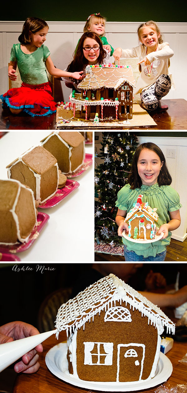 Family Gingerbread houses