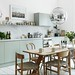 Mint green #kitchen