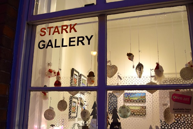 Stark Gallery Christmas Window, Canterbury | www.rachelphipps.com @rachelphipps