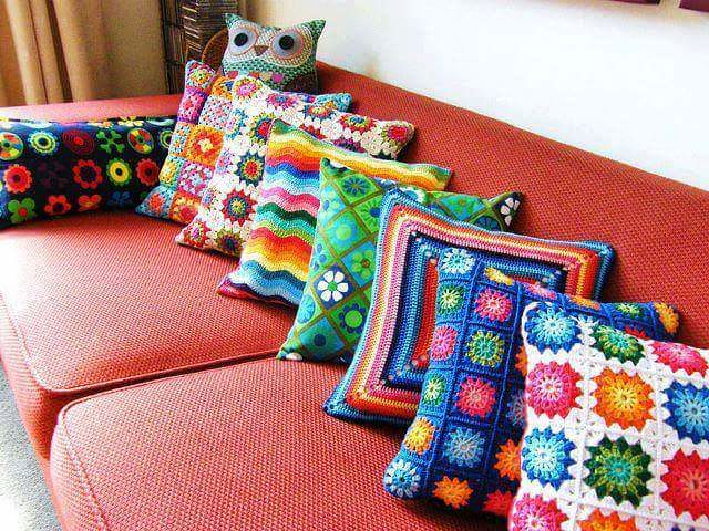 (i) granny square pillows