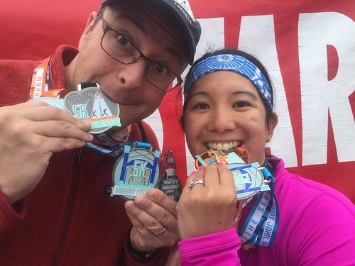 Mei and Dan with their medals.