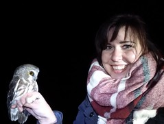 Finally got to hold my first Saw-whet Owl last night at the Beaverhill Bird Observatory! - - - - - #owl #nature #explorealberta #boreal #bbo #beaverhillbirdobservatory #beaverhillbirds #scarf #sawwhetowl #borealbirds #naturephotography #animalphotography