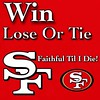 "RepostBy @oursf49ers:  ""SF Takes a 6th straight L and fall to 1-6 after a 34-17 blowout to TB.  Regardless, I'm still gonna ride or die til the end of time. Keep the faith, the dark days will end one day. ❤️💛 #Niners #NinerFaithful.""  ("