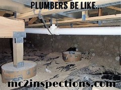 Couldn't have lowered the waste line just a little? #HomeInspection #HumpDayHumor mc2inspections.com