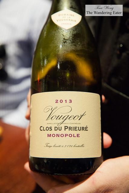 2013 Vougeot Clos du Prieure Monopole