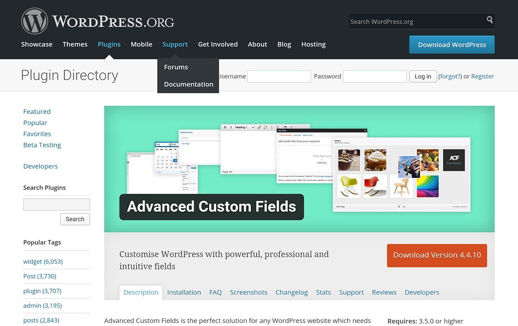 wp plugin advanced custom field