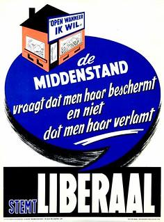 Liberale verkiezingsaffiche, 1958 | Campaign poster, Belgian Liberal Party, National elections 1958