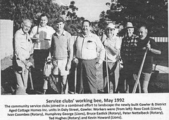 Service clubs working bee - 1992