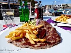 Steak chips beside the sea