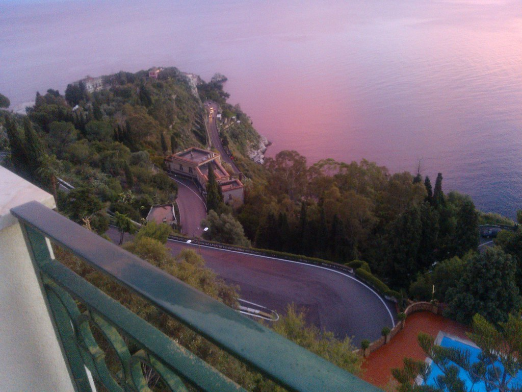 Vista Da Taormina Al Tramonto