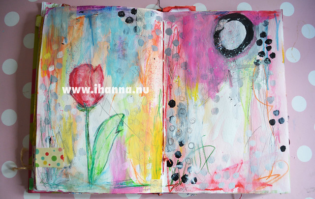 Peek into iHanna's Art Journal: Tulip and patter by iHanna of www.ihanna.nu