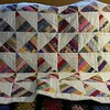My Hopscotch String Quilt. Finished Today September 7, 2015. Machine pieced and hand quilted.