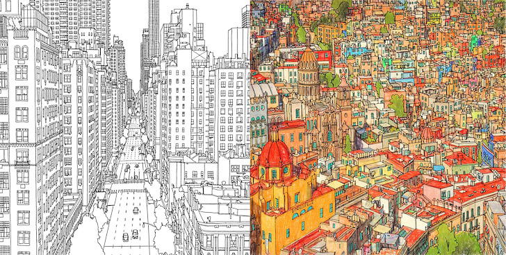 Fantastic Cities + 11 Beautiful Adult Coloring Books.