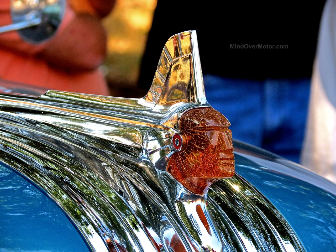 Lead East Indian Hood Ornament