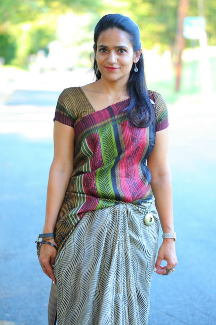 Fall Colors, Saree, Dress, Tanvii.com