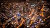 Aerial view of Toronto at night by dan sedran