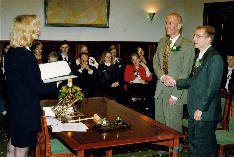 Wedding ceremony in Netherlands some days after same-sex marriage legalization