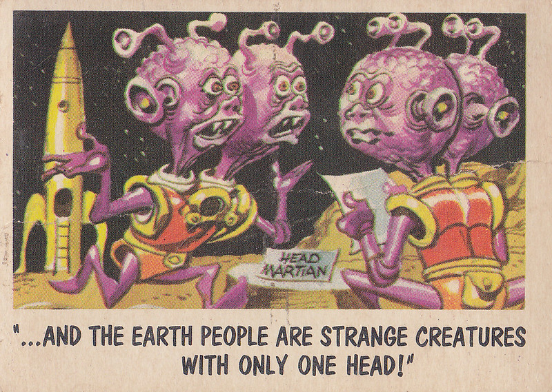 """You'll Die Laughing"" Topps trading cards 1959,  illustrated by Jack Davis (25)"