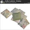 mudhoney ruffle cushions shabby