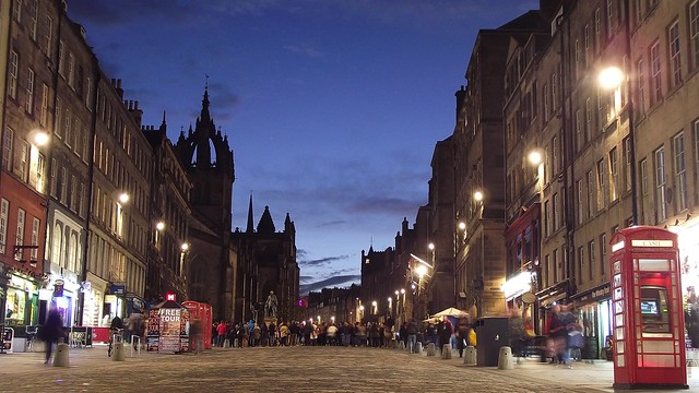 Royal Mile, blue hour