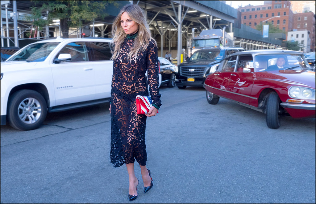 Erica Pelosini Arrives at Givenchy NYFW 9-2015