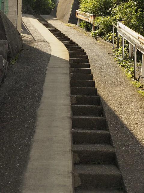 階段の坂道