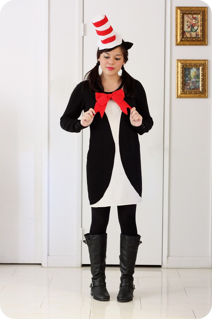 Cute & Easy DIY Halloween Costumes 2015 - The Cat in the Hat