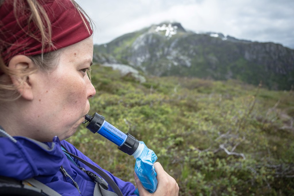 Keep hydrated at all time while pregnant! Lofoten archipelago. Norway.