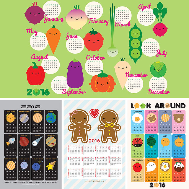 2016 tea towel calendars - 2 for 1 at Spoonflower