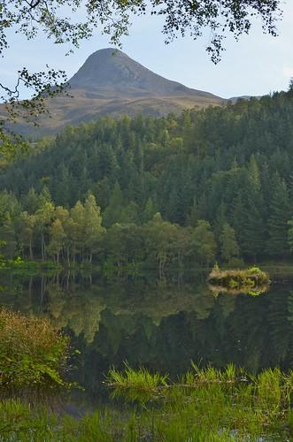 The Pap of Glencoe from the Glencoe Lochan