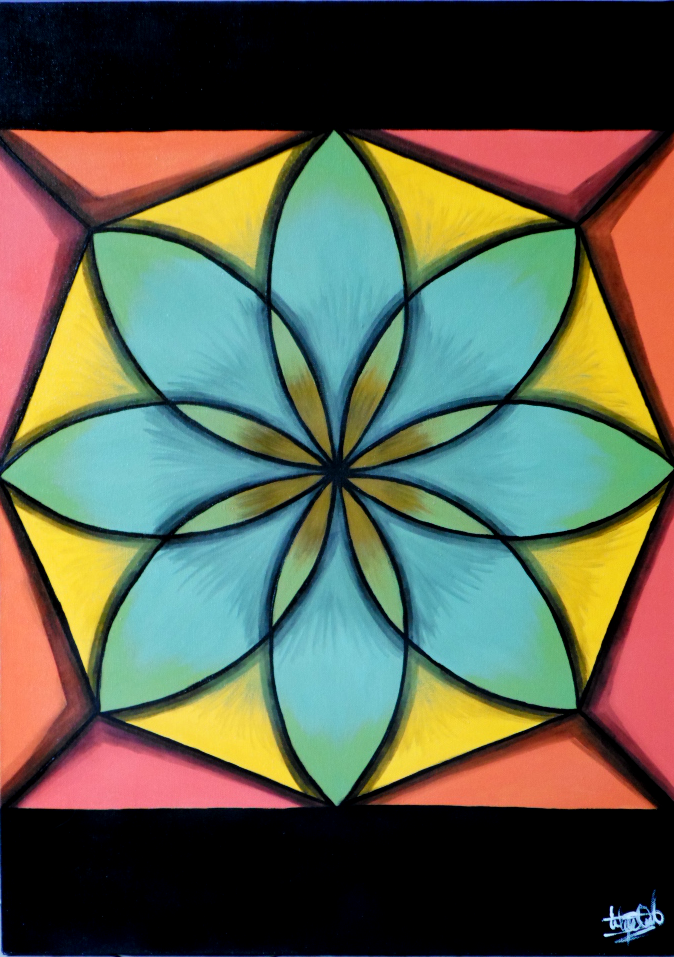 Geometric Abstract Paintings – The Flower of Life • ESTEFANIA QUINTERO