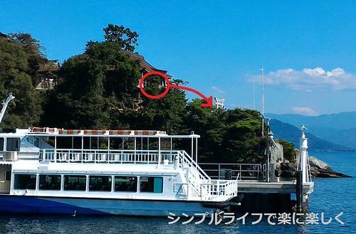 竹生島、鳥居