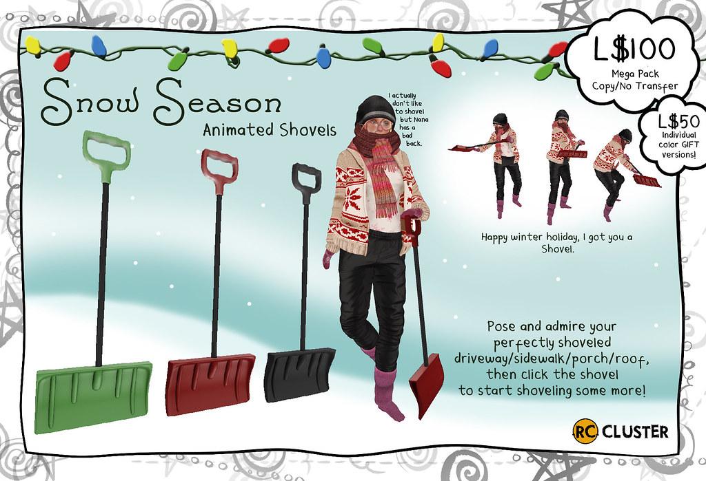 -RC- Snow Season Shovels - SecondLifeHub.com