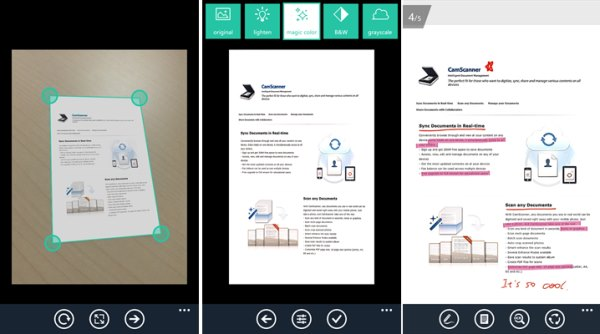 how to use camscanner application