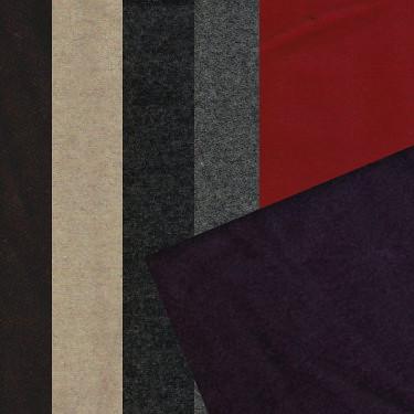 素面 外套 大衣 毛料套裝 背心裙洋裝 冬季服裝布料 GA1490031